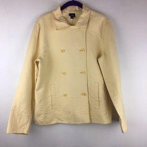 Eileen Fisher Yellow Stretch Cotton Jacket